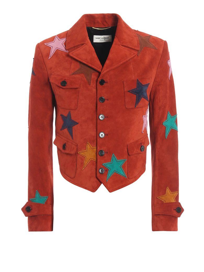Saint Laurent Star Patch Jacket - Rouge Vintage