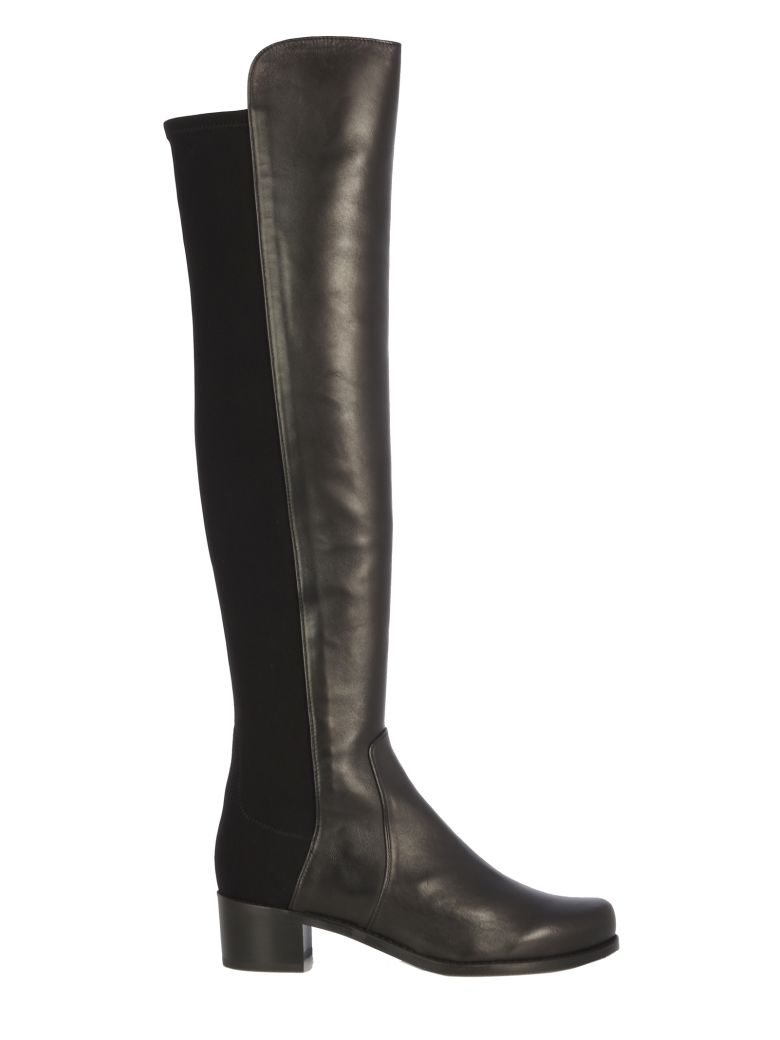 Stuart Weitzman Low Heel-gabrdne/stivale Pelle - Black  Black