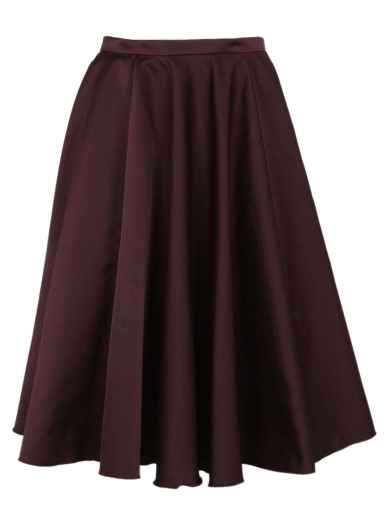 Rochas Flared Skirt - Aubergine