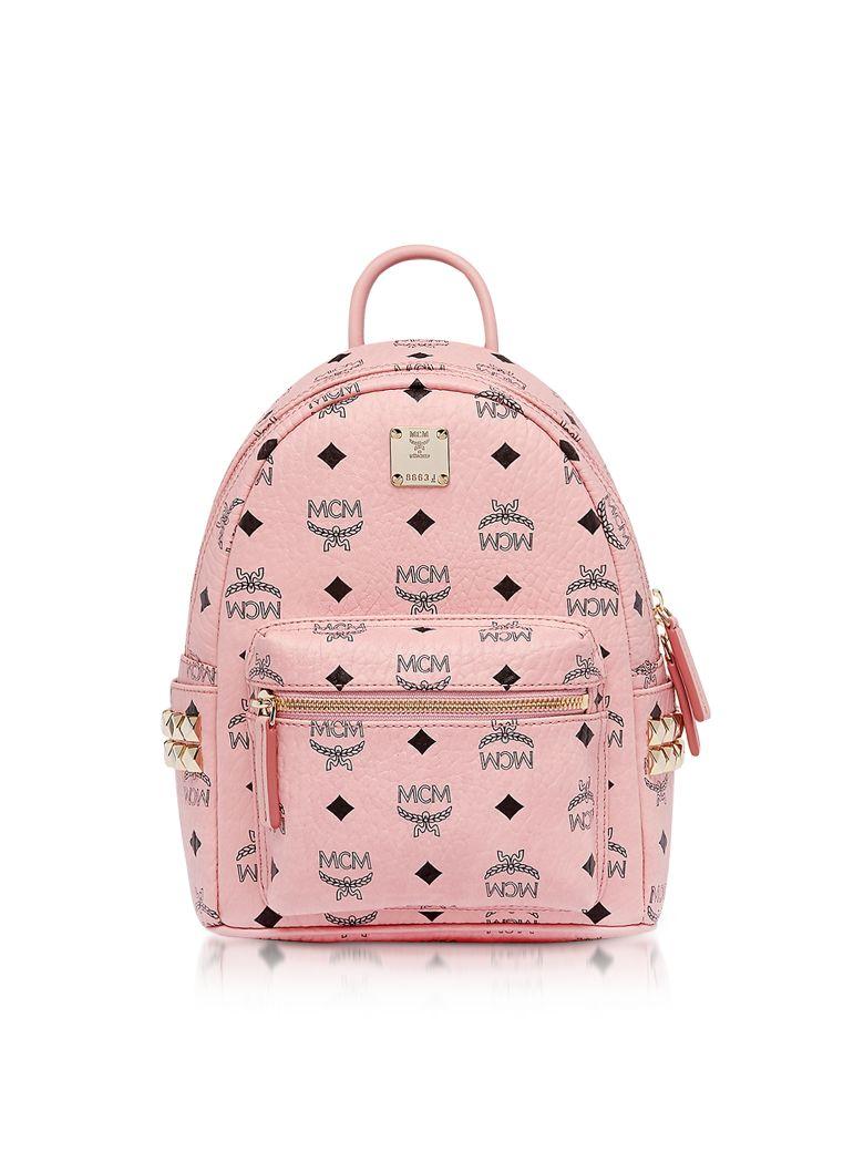 MCM Pink Mini Stark Backpack - Pink