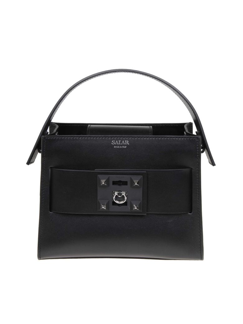Salar Bag Lola Hand In Black Leather - Black