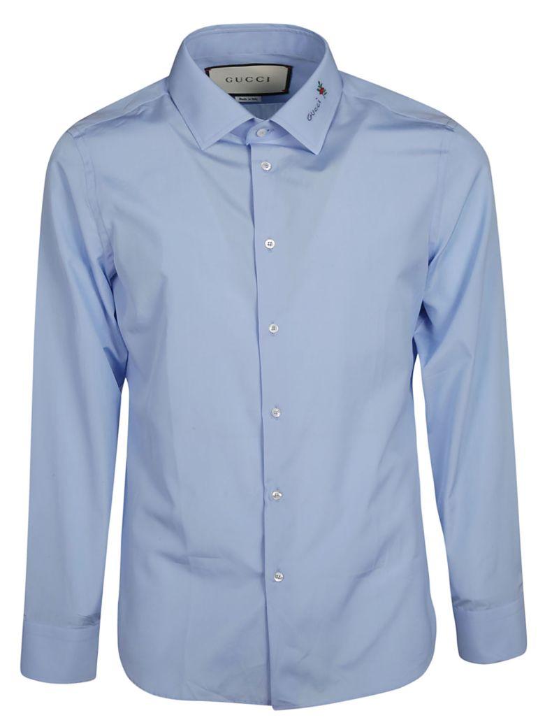 Gucci Flower Fil Coupé Shirt - Blue