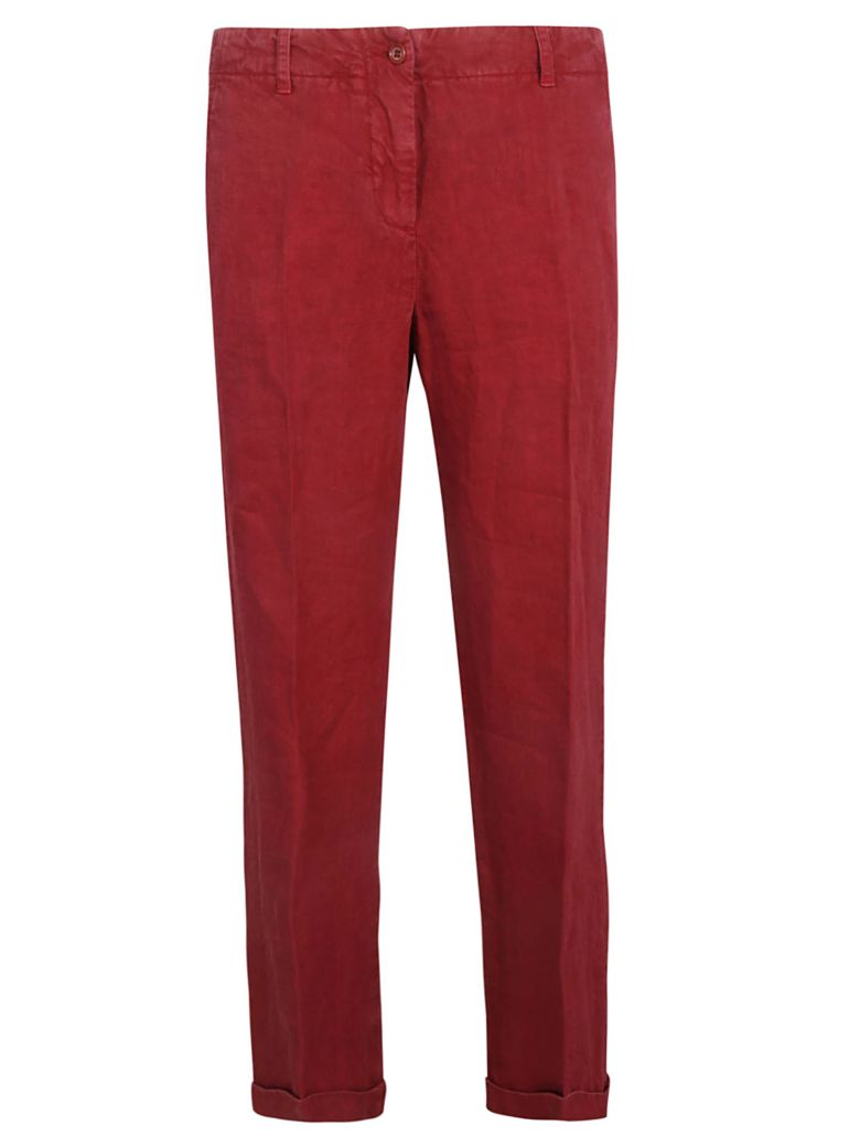 Aspesi Cropped Trousers - Red
