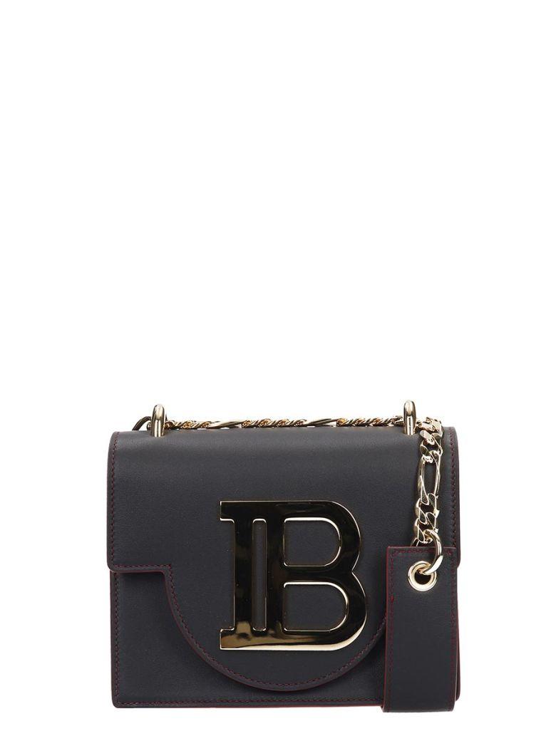 Balmain B-bag 18 Black Leather Logo Bag - black