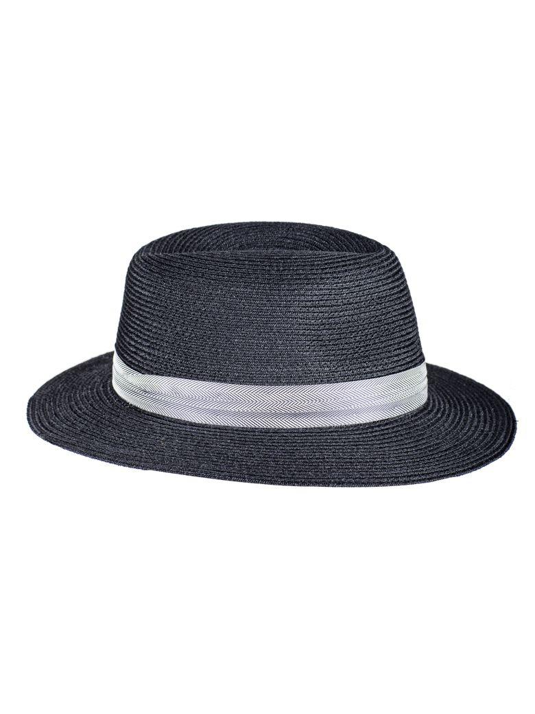 Maison Michel Woven Band Hat - Black