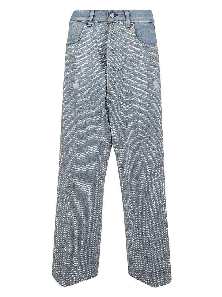 Golden Goose Breezy Embellished Jeans - BLUE DIAMONDS