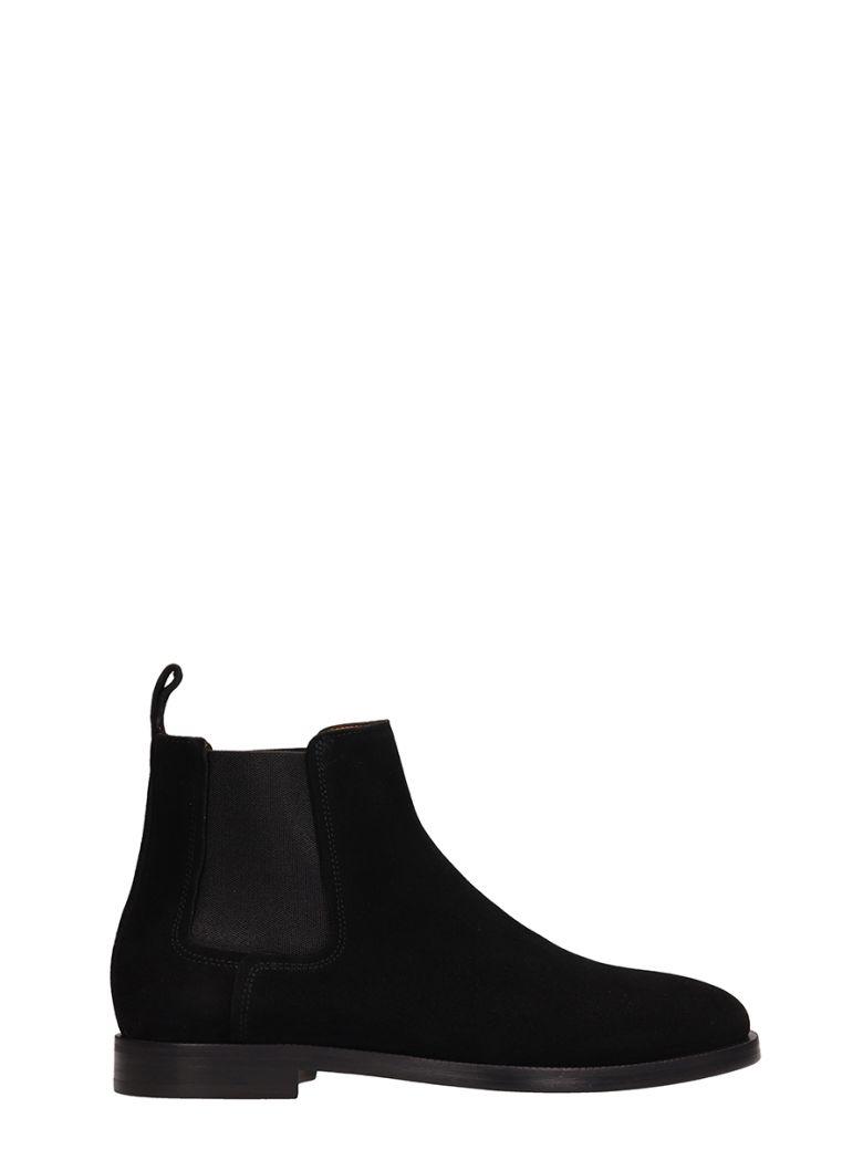 Lanvin Black Suede Chelsea Ankle Boots - black