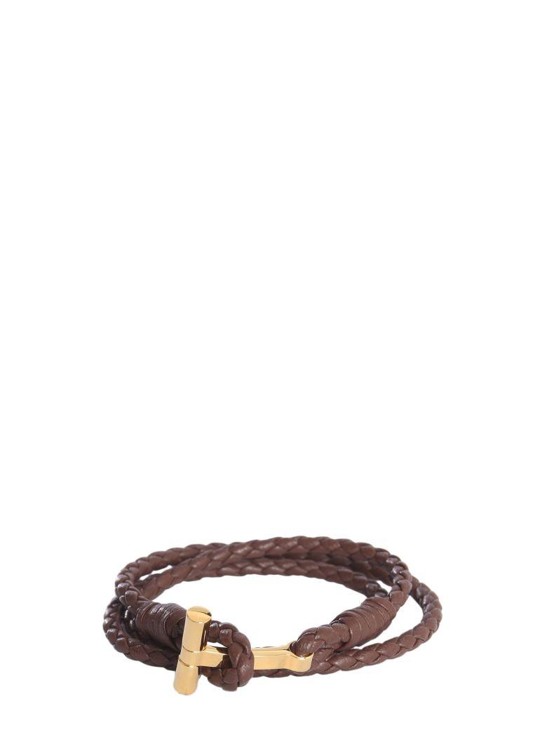 Tom Ford Interwoven Bracelet - MARRONE