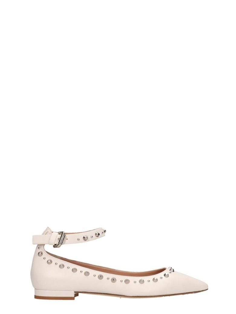 Julie Dee White Leather Ballarinas - white
