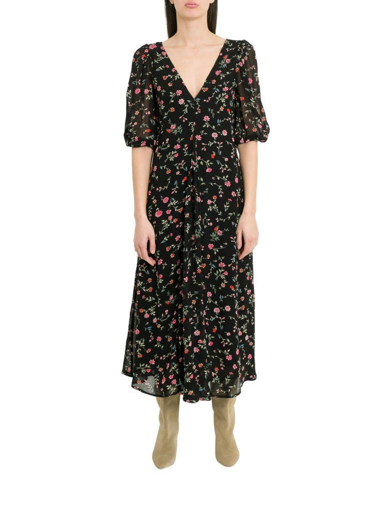 Ganni Elm Long Dress - Nero