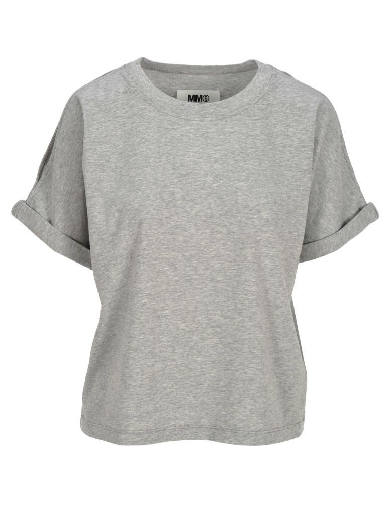 MM6 Maison Margiela Mm6 Mm6 Cut-outs Details T-shirt - GREY MEL