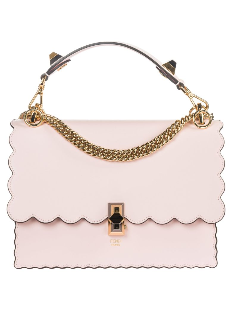 Fendi  Leather Handbag Shopping Bag Purse Kan I - Pink