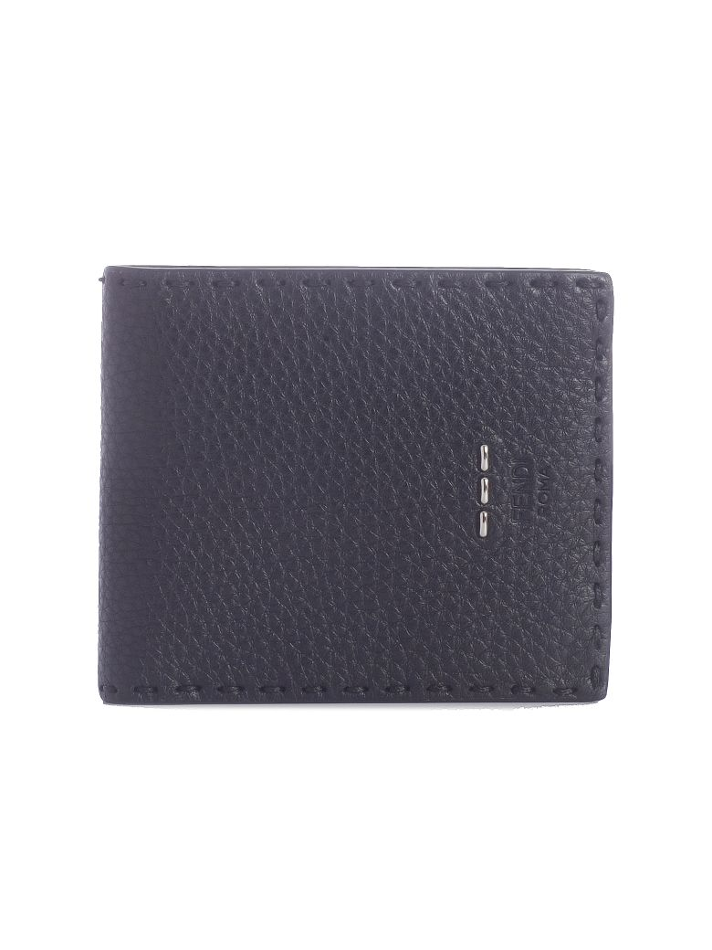 Fendi Classic Bifold Wallet - F0gxn Black Palladio