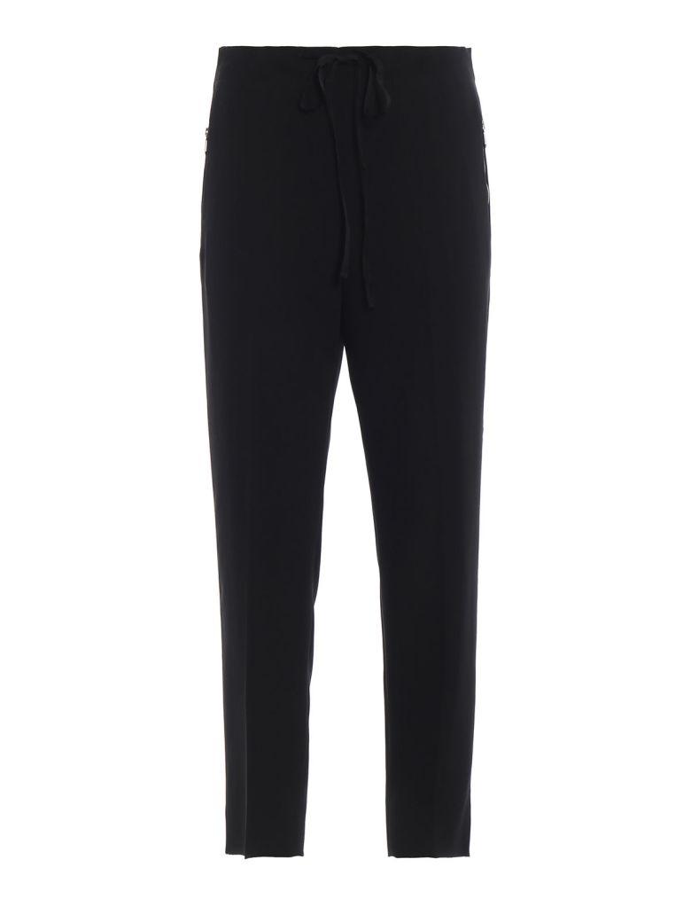 Bottega Veneta Drawstring Cropped Trousers - Nero