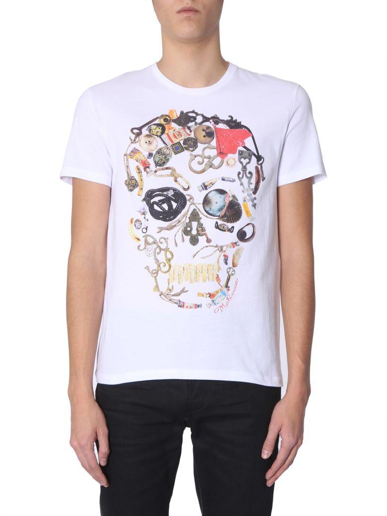 Alexander McQueen Round Neck T-shirt - BIANCO