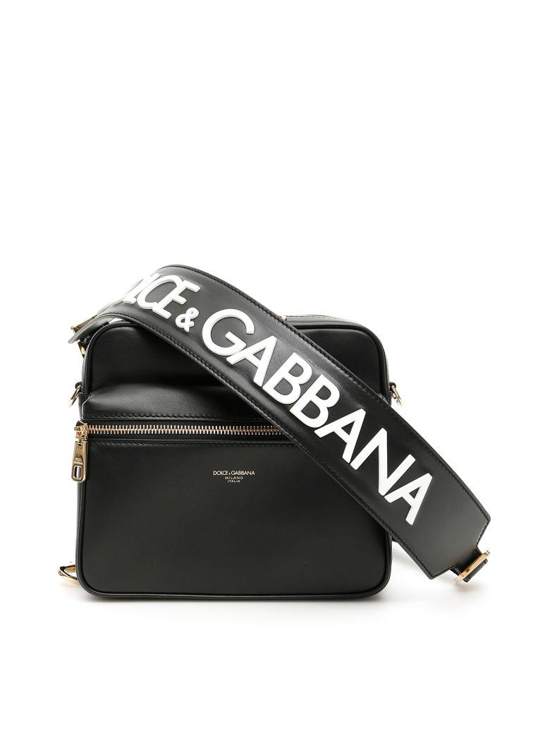 Dolce & Gabbana Logo Messenger Bag - D G FDO NERO (Black)