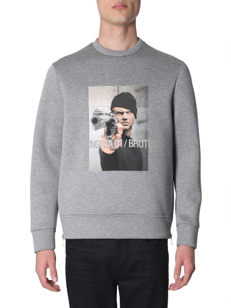 Neil Barrett Gangsta 01 / Brutus Printed Sweatshirt - GRIGIO