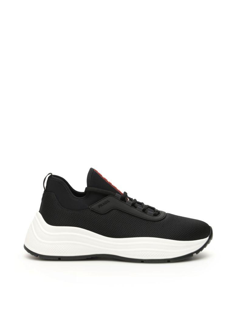 Prada America's Cup Sneakers - NERO BIANCO (Black)