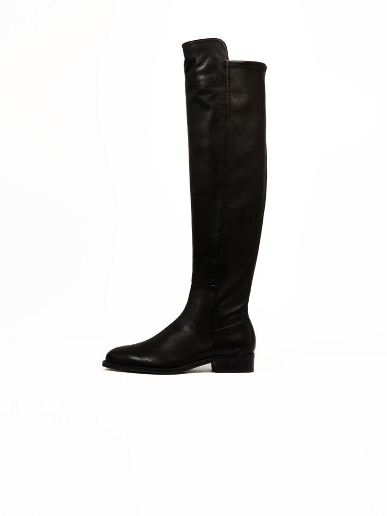 Stuart Weitzman Boots Black Leather - Black