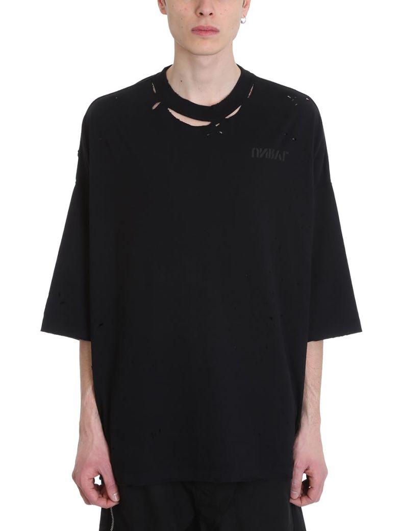 Ben Taverniti Unravel Project Skull Vintage Black Cotton T-shirt - black
