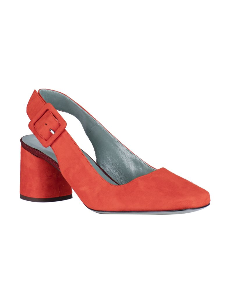 Paola D'Arcano Almond Toe Slingback Pumps - Red