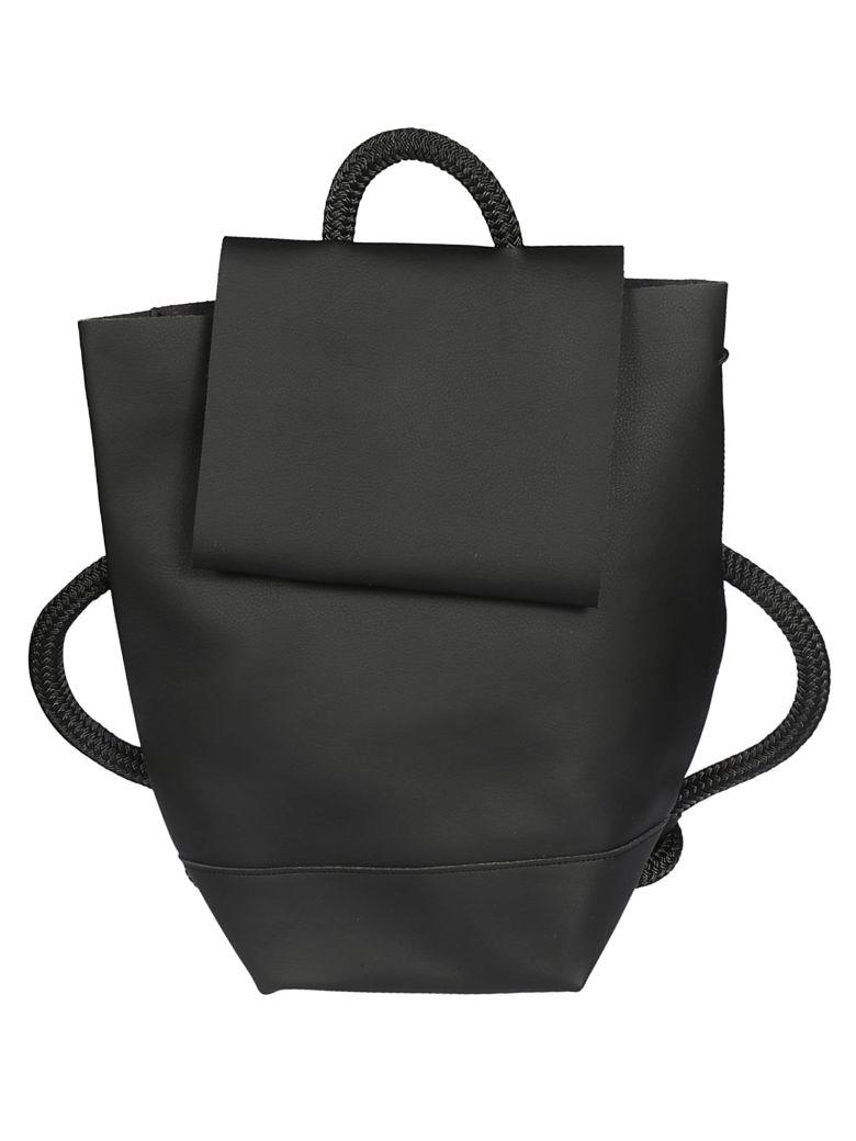 Zucca Logo Detail Backpack - Black