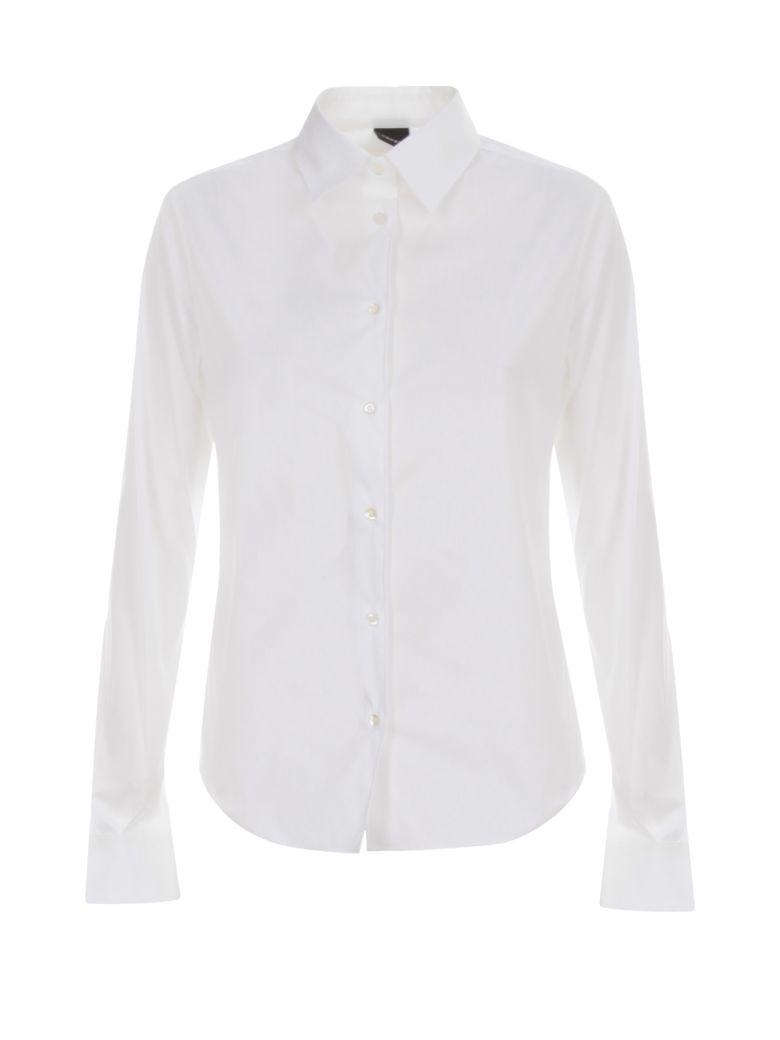 Aspesi Stretch Popeline Shirt L/s - Bianco