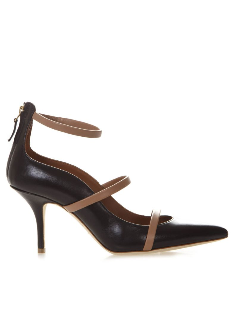 Malone Souliers Robyn Black Leather Pumps - Black
