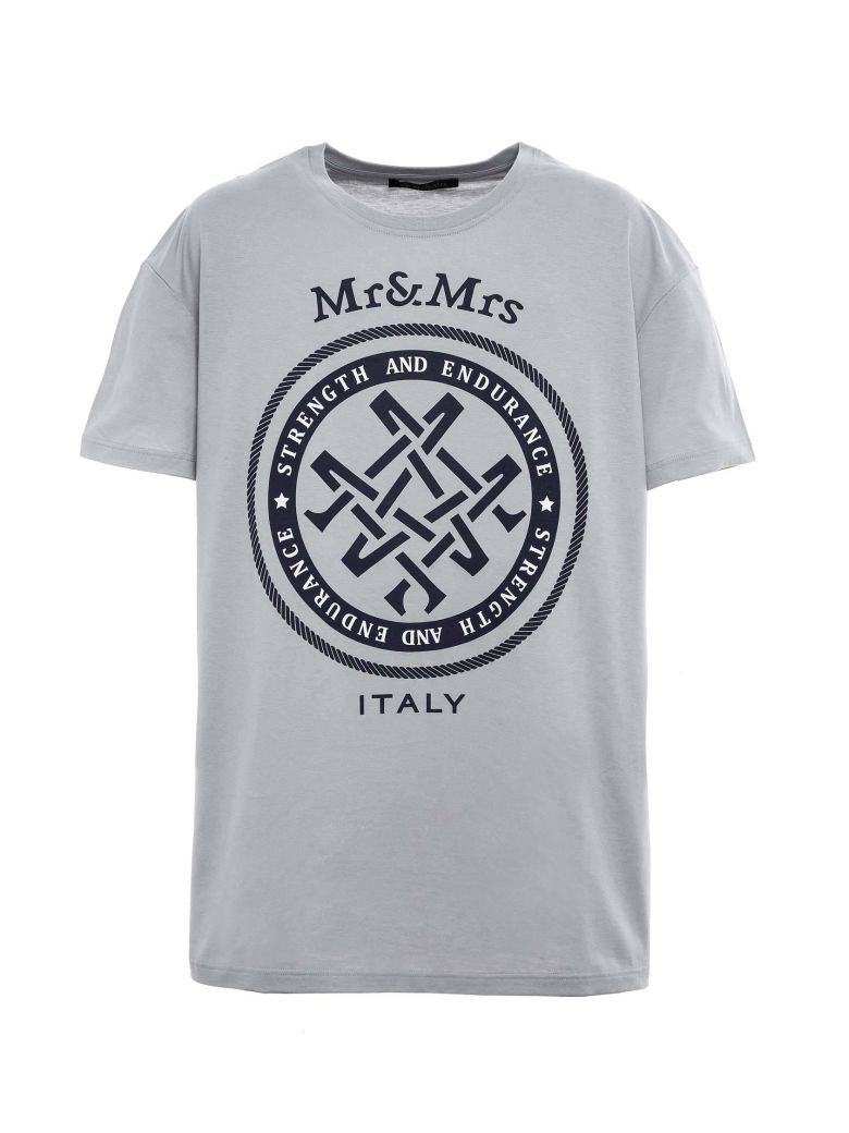 Mr & Mrs Italy Unisex Oversized T-shirt - STONE GREY