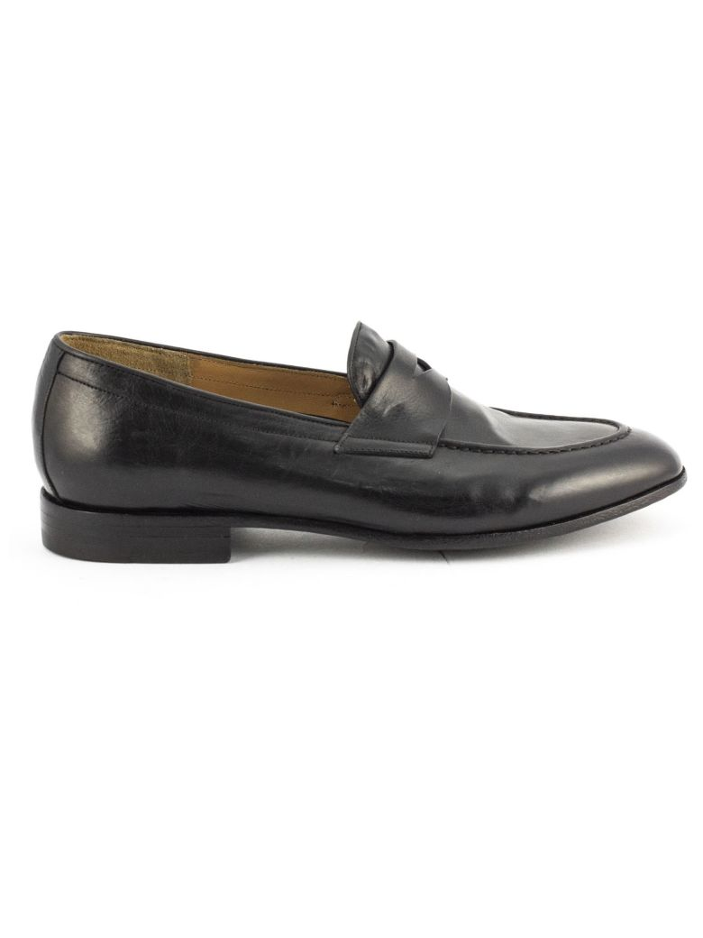 Green George Black Maremma Leather Loafer - Nero