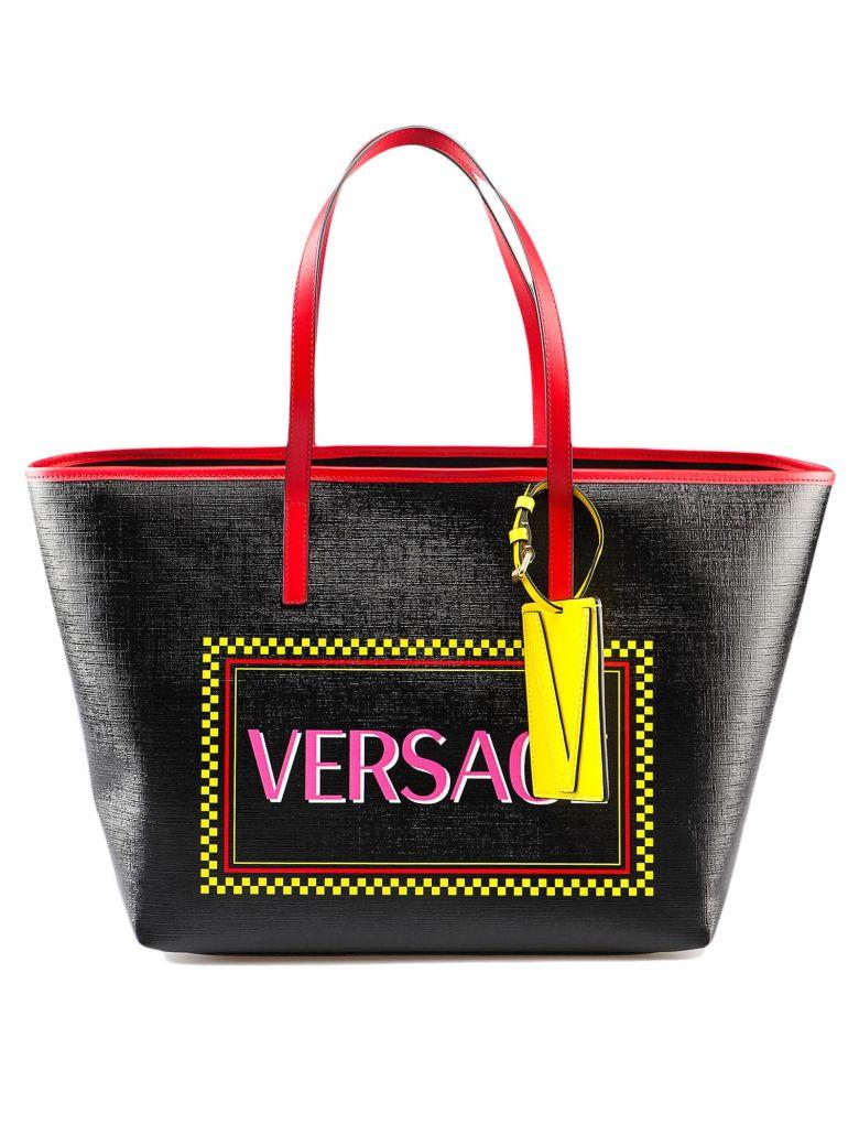 Versace Latex St. Tote - Dnmot Nero Multicolor