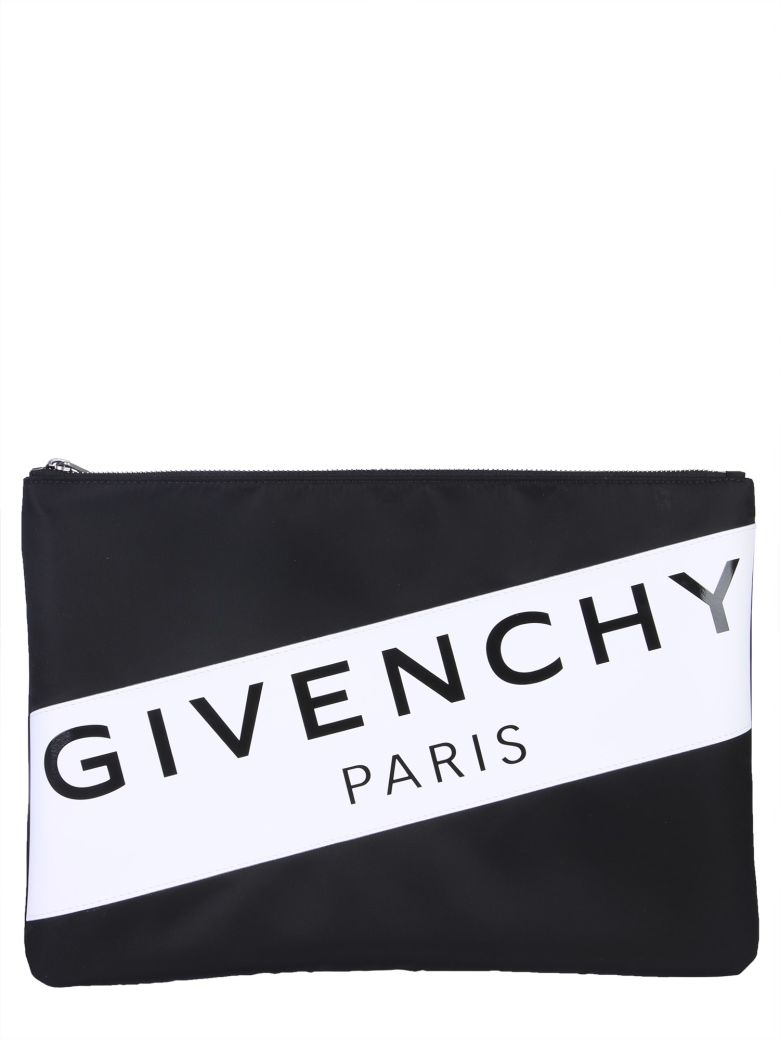 Givenchy Large Pouch In Nylon - NERO