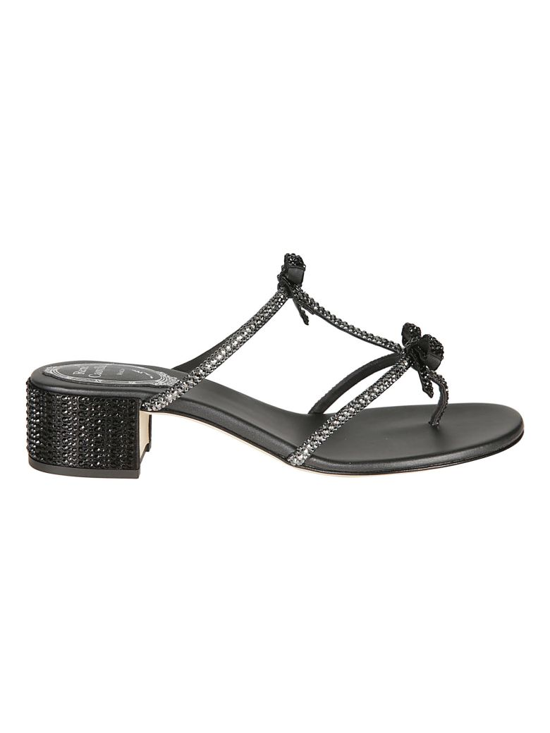 René Caovilla Rene Caovilla Embellished Sandals - Black