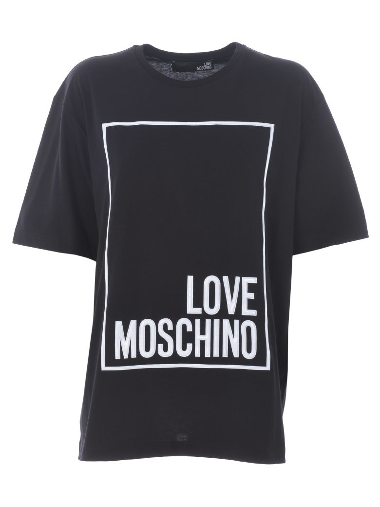 love moschino love moschino oversized logo printed t shirt. Black Bedroom Furniture Sets. Home Design Ideas