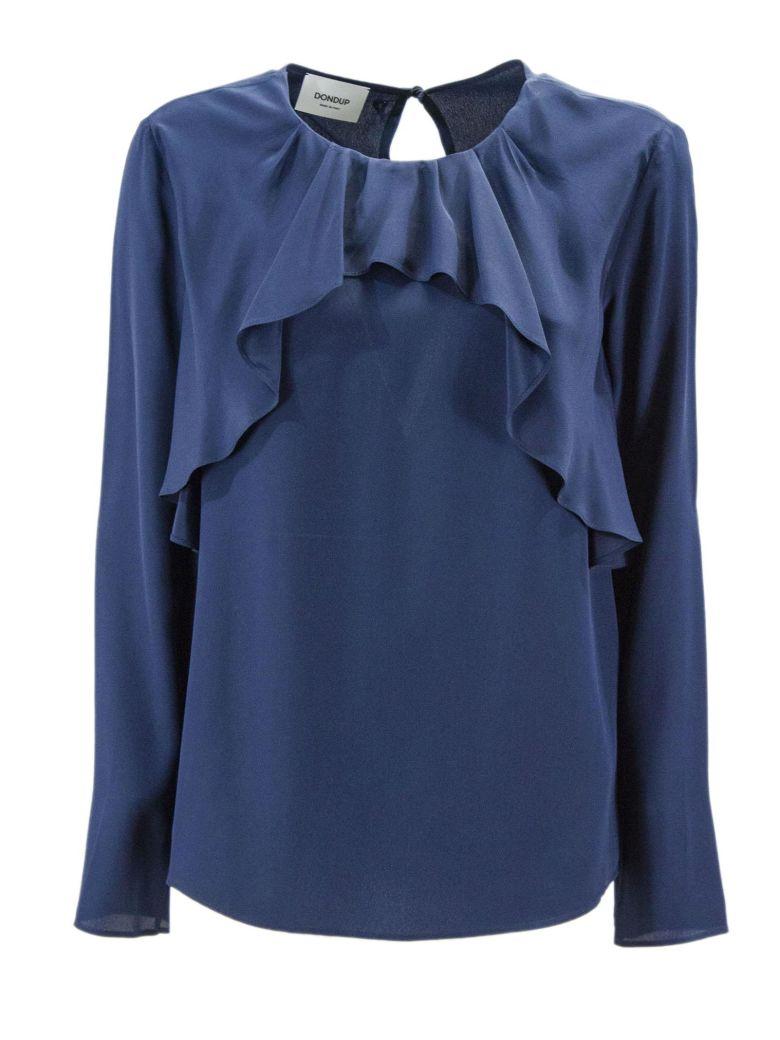 Dondup Blue Blend Silk Blouse. - Blu