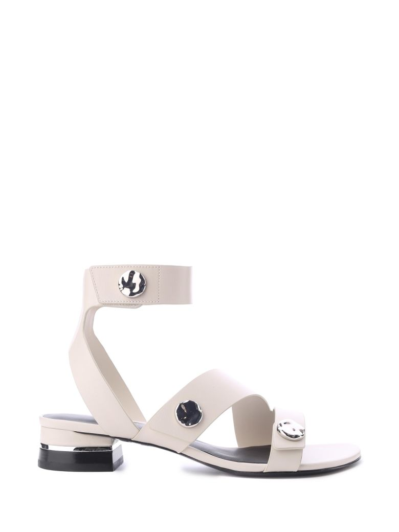 3.1 Phillip Lim Drum 30 Smooth-leather Sandals - Bianco