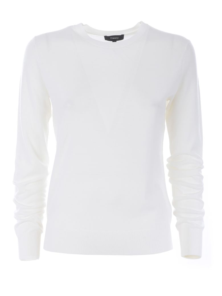 Theory Knitted Jumper - Bianco latte