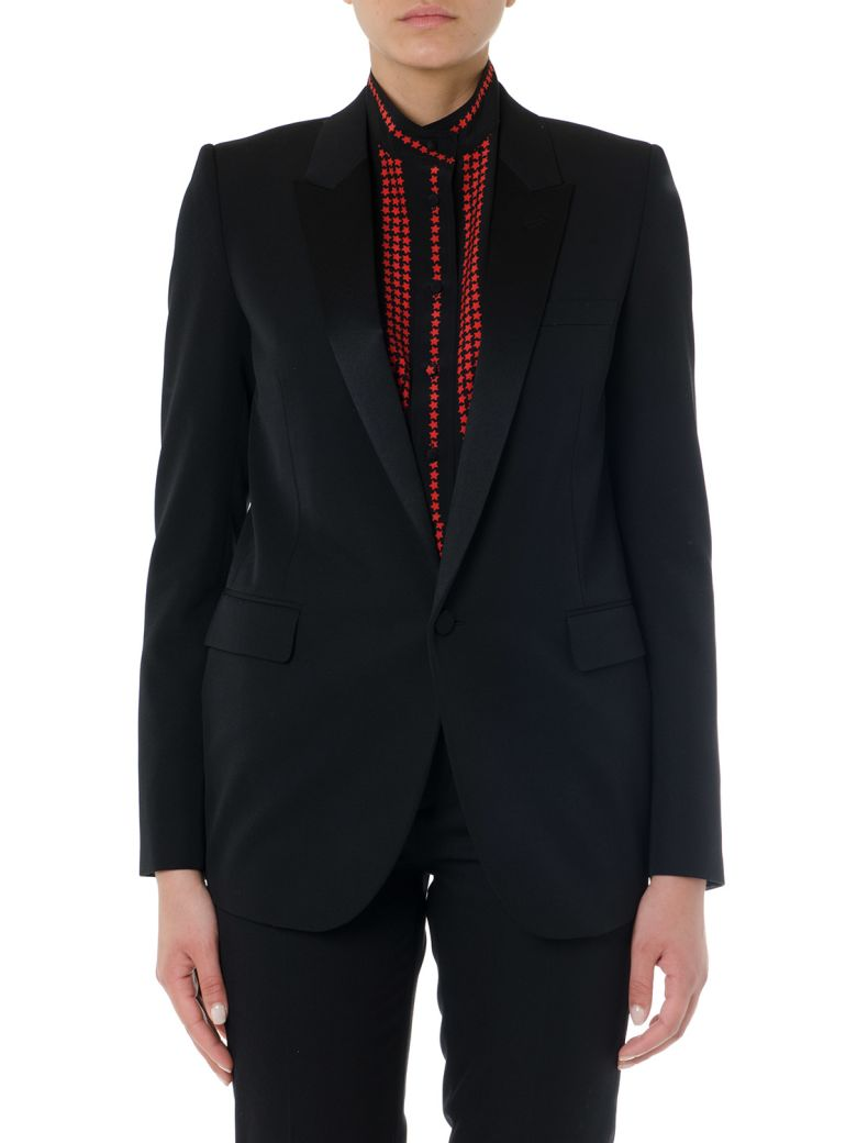 Saint Laurent Black Wool Single Breast Jacket - Black
