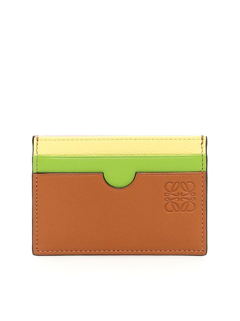Loewe Rainbow Credit Card Holder - TAN MULTICOLOR (Brown)