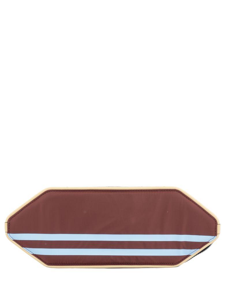 Marni Multicolor Pouch - BURGUNDY