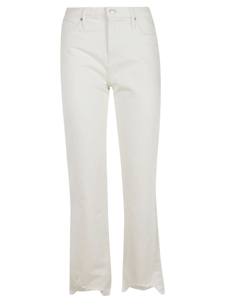 RTA Frayed Jeans - White