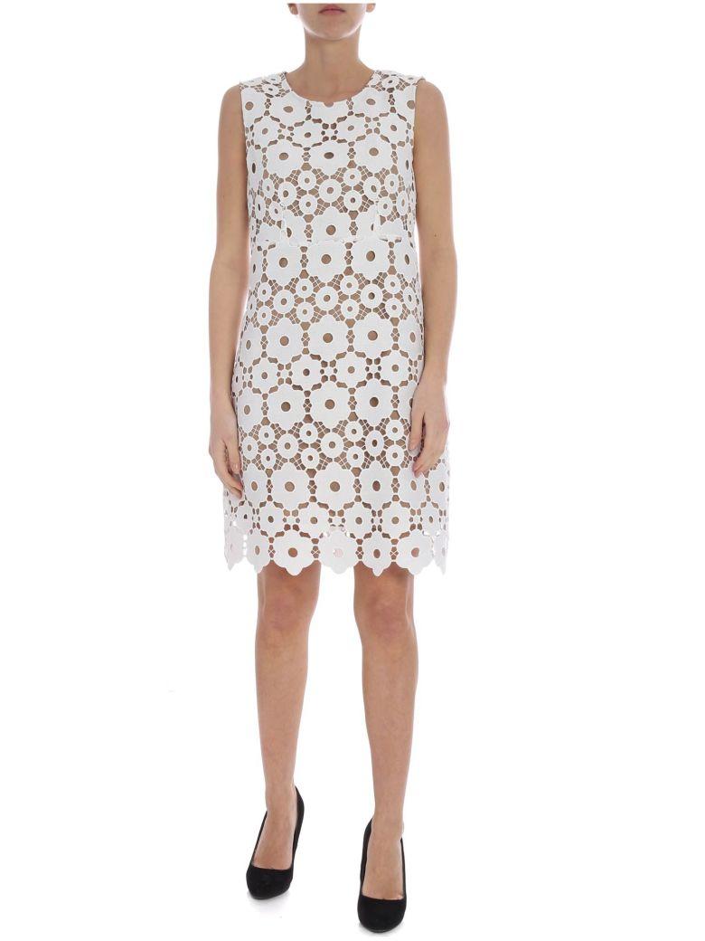 Dondup Short Lace Dress - Bianco