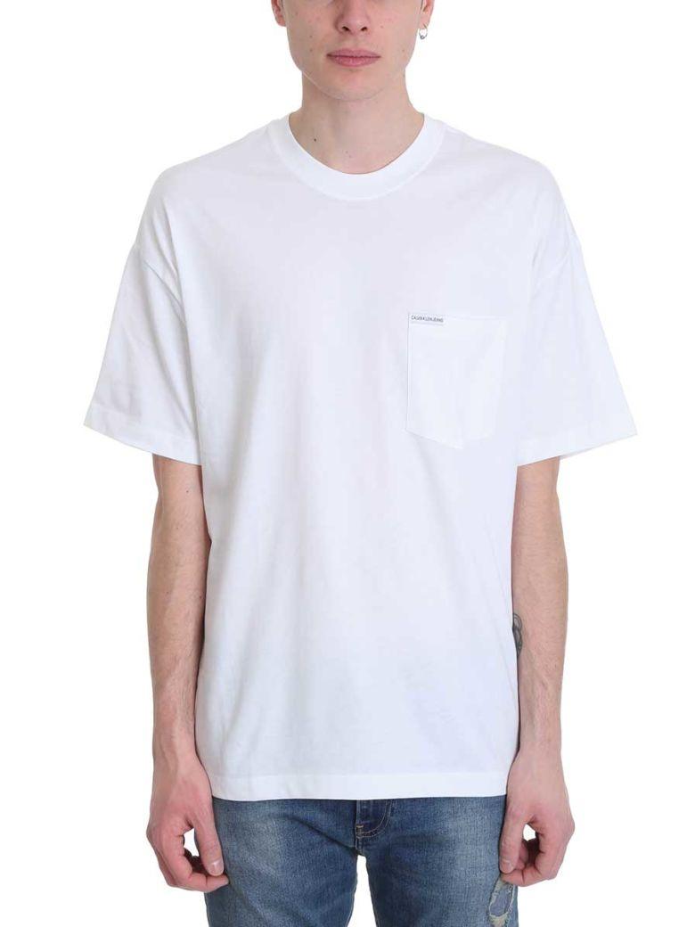 Calvin Klein Jeans White Cotton T-shirt - white