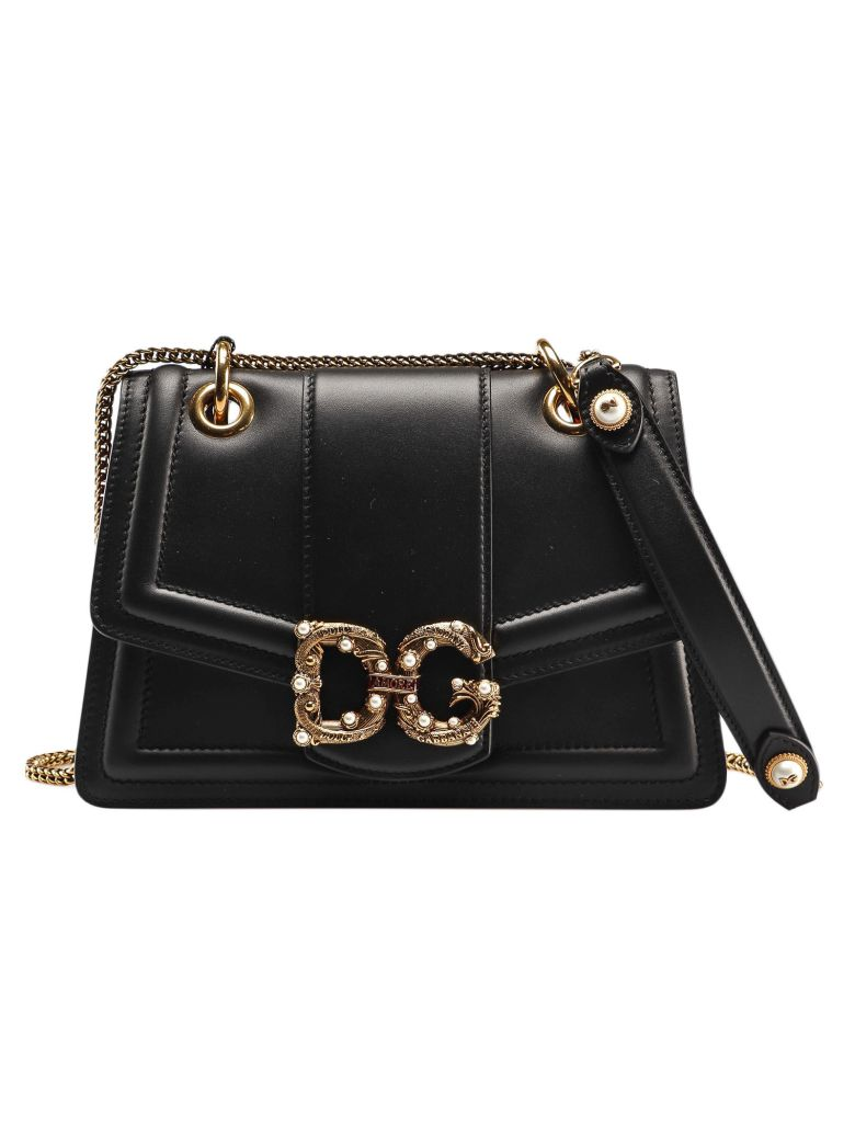 Dolce & Gabbana Logo Plaque Shoulder Bag - Multicolor