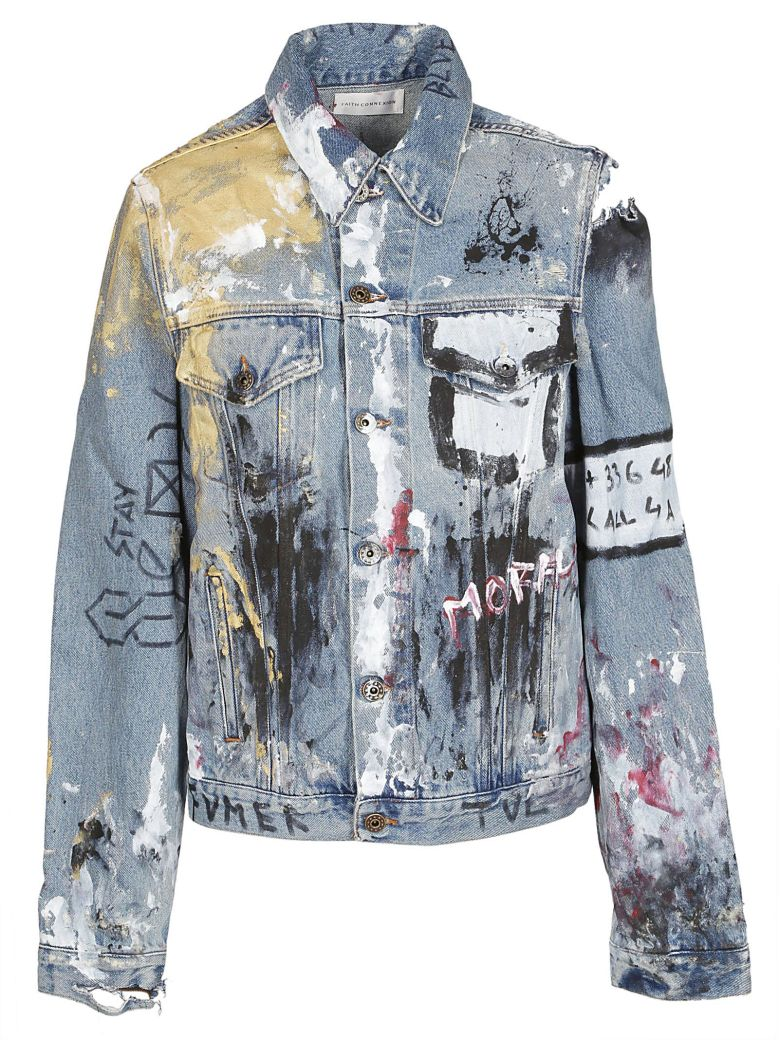 Faith Connexion VANDALIZED DENIM JACKET