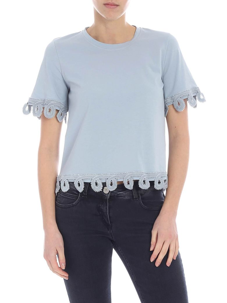 Dondup Embroidered T-shirt - Polvere