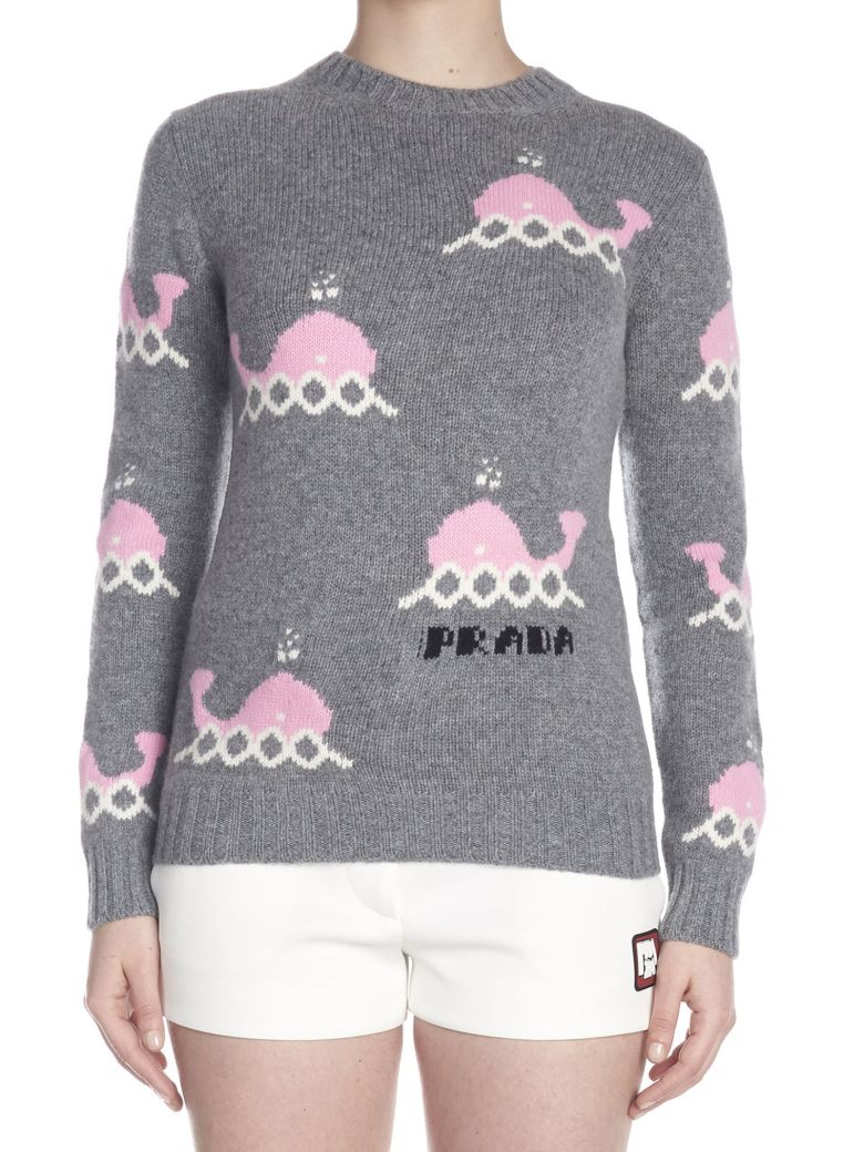 Prada 'whales' Sweater - Grey