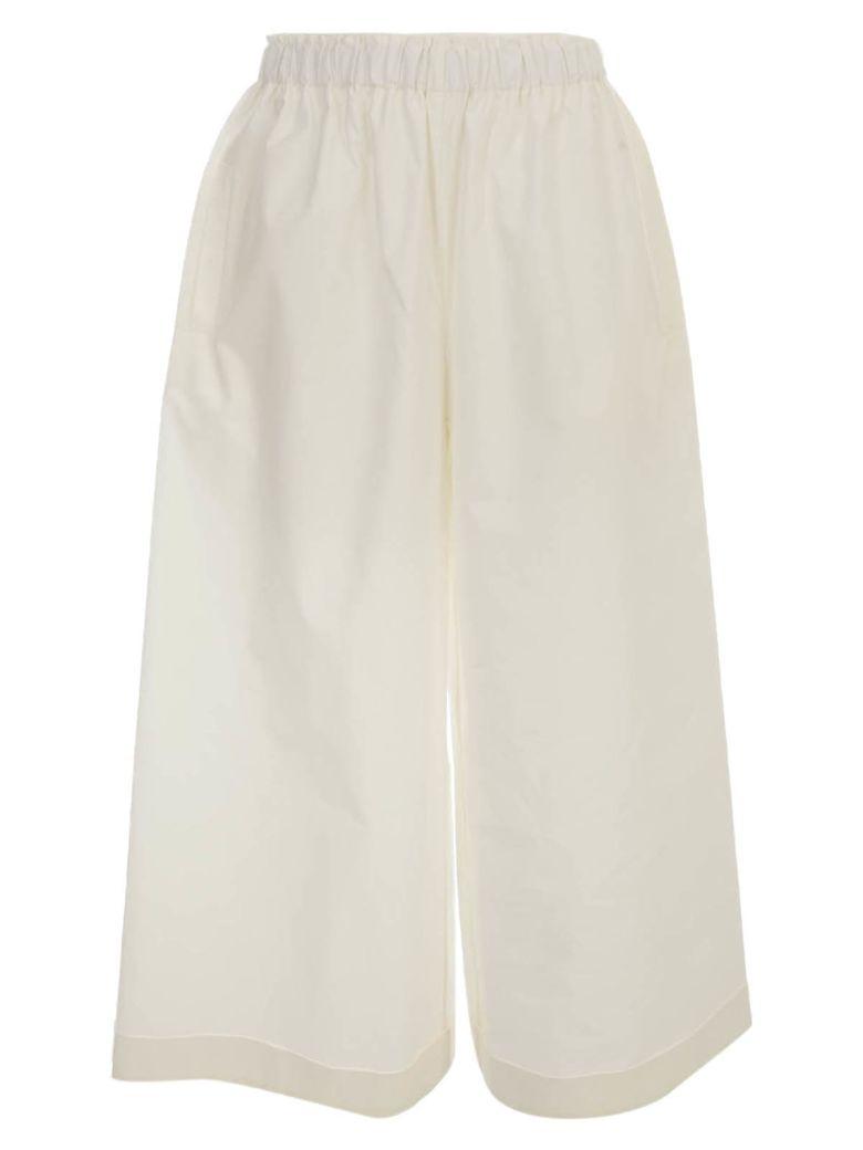 Daniela Gregis Cotton Pants Elastic Waist - White