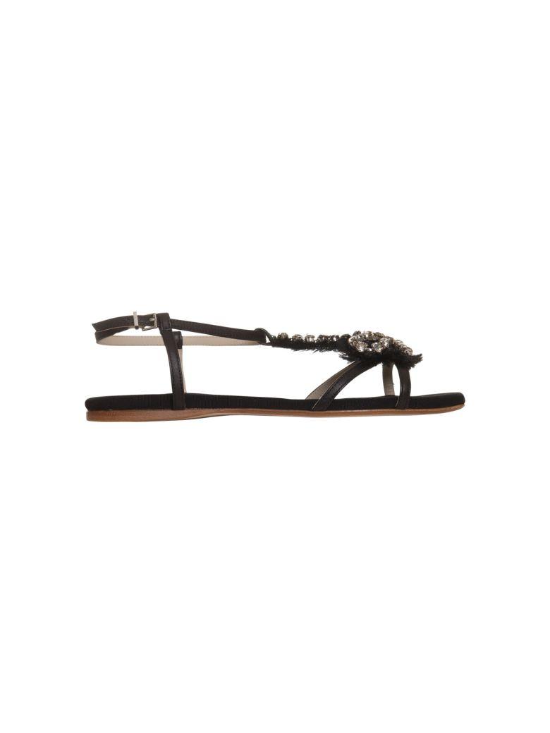 Anna Baiguera Aurora Flat Sandals - NERO