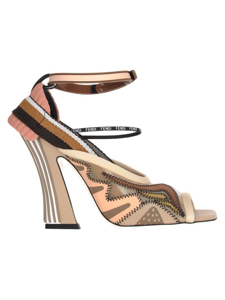Fendi Fendi Mesh Slingback Sandals - BIEGE NUDE